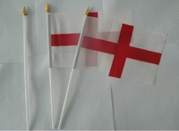 England  flag 14 * 21cm hand flag mix order 500 psc /lot
