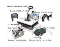 6 in 1 Combo Heat Press Machine,heat press,mug/cap/plate/T-shirt heat press machine,heat transfer machine