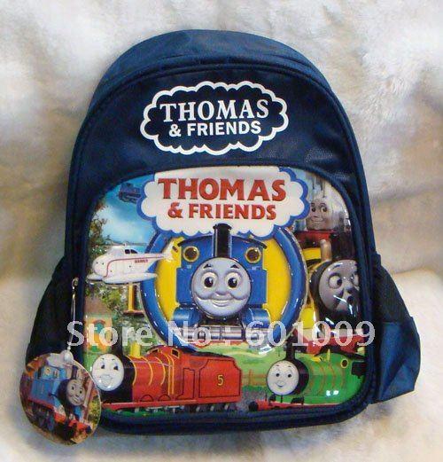 O envio gratuito de alta qualidade Nylon Thomas The Tank Engine mochila escolar criança Bag atacado e varejo(China (Mainland))