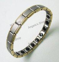 Nano Energy Magnetic Titanium Germanium Bracelet Pain Relief 60pcs/lot