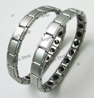Stainless Steel Nano Titanium Germanium Bracelet Balance Band 100pcs/lot