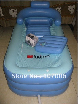 Free shipping//Folding Inflatable Bathtub Portable bath tub Spa Tub//wholesale,retail//blue//size:120*45*45CM