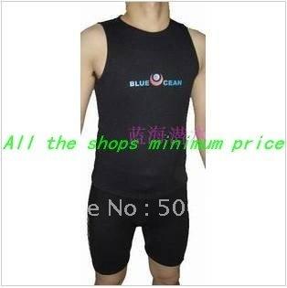 Wholesale promotion price 2 MM diving material fission vest + shorts diving suits diving suit