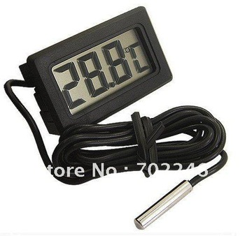 first shpping Digital Aquarium Fish Freezer Refrigerator Thermometer