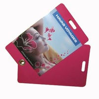 PVC Luggage Tag with Eyelet