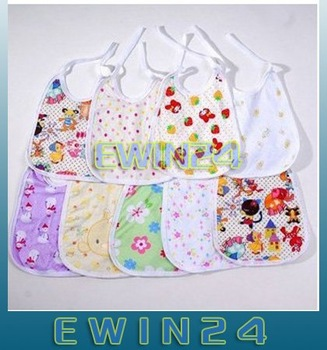 Free shipping Nice Baby Bib Infant Bib Baby Accessories Baby Apron Cute High quality 100% new 100pcs/lots