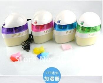 Cute Mini USB Home Room Car Air Humidifier Moist Filter anion humidifier power adapter CN post