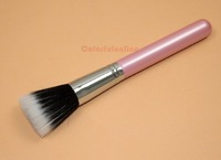 Кисти для макияжа Advanced Artificial Fiber Flat Top Black Handle Single Brush