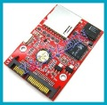 SD SDHC Secure Digital MMC to 7+15 Pin 7+15P SATA Serial ATA Converter Adapter, Free Shipping, Brand New, Wholesale/Retail
