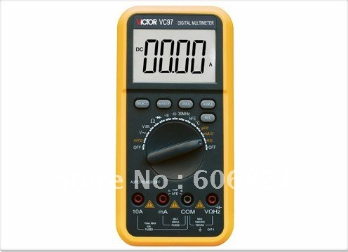 free shipping hot selling 5pcs/lot Digital Multimeter/DC1000V AC750V 10A Digital Multimeter VC97(China (Mainland))