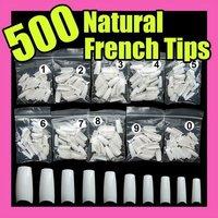 Fast & Free Shipping Wholesales Price 500 White False French Nail Art Tips Uv Acrylic Make-up 064