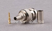 BNC Connector: BNC Male Crimp on Connector 3 pieces in 1 Freeshipping