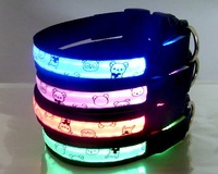 Free DHL Shipping 20pcs/lot led dog collar,led Leash,crystal dog collar,flashing dog collar,led pet collar,led pet products