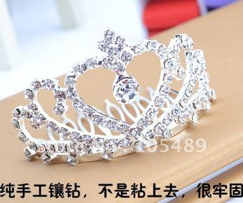 100% Brand New & High Quality Bride ROYAL CROWN Hair Clasp ,Crystal Crown Hairpin ,Hair Ornaments ,Alexander Zouari E0239
