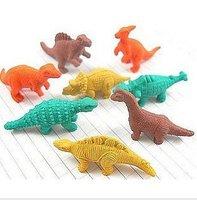 Cartoon eraser rubber dinosaur eggs 8 small rubber dinosaurs and dinosaur eggs angle 8