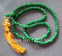 fashion jewelry Tibet Tibetan Buddhist 108 8mm Jade Prayer Beads Mala Necklace free shipping