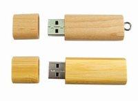 Freeshipping Guaranteed Full Capacity Bamboo Shell USB Flash Memory Pen Drive