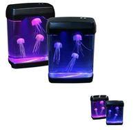 Creative Gift , graceful, mysterious, electronics jellyfish aquarium, LED lights, ornaments
