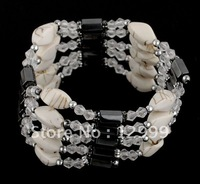 free shipping by DHL fashionable magnetic and plastic beads bracelet and necklace/ mix and match sold