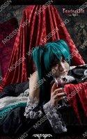 Vocaloid Hatsune Miku Cosplay Wig Costume Dark Green 120CM