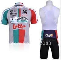 Free shipping retail and wholesale,2011 LOTO sling, strap  short-sleeved jersey, Cycling Wear
