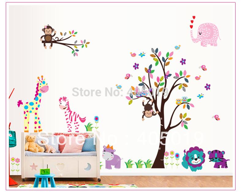 Трафарет для рисунков на стене детского сада