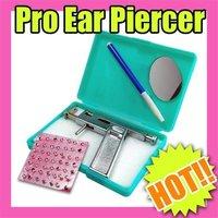 Nail Art Fast & Free Shipping Wholesales Price Ear Piercing Gun Pierce Kit + 98 Free Silver Studs Make-up 146