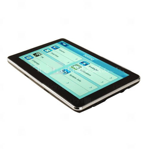 Portable 7 Inch Touch Screen Car GPS Navigator + Bluetooth + FM +2GB card with map  2pcs(China (Mainland))