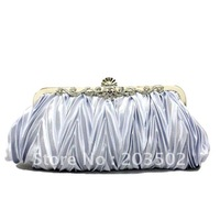 Free shipping New Arrival Evening bag wedding bag bridal bag Party bag handbag silver