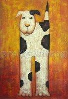 Modern Wall Art Animals Dog Oil Painting  Guaranteed 100% Free shipping YP660