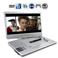 free shipping& wholesale 15.5 inchTFT Portable DVD Player with ATV Game and USrB MP3 Function  in stock