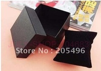Free shipping cheap watch boxes and packaging / gift original cases with black pillow 8.5*8.5*5.5cm , wholesale 18pcs/lot, R858