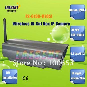 Free Shipping WiFi Waterproof 6mm Lens Box IP IR Camera Wireless Camera Security LA-613A-M105
