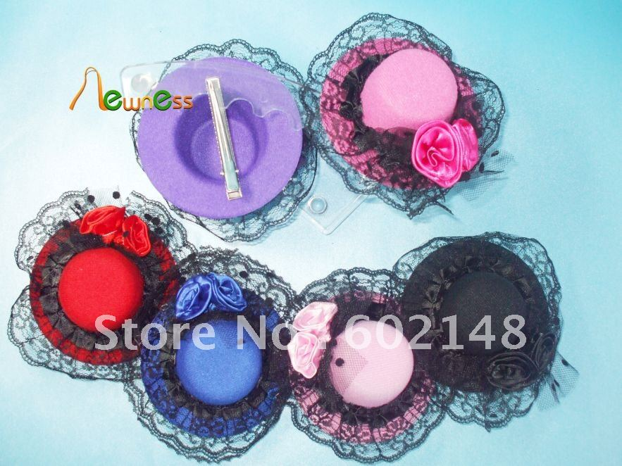 8Pcs/Lot Wholesale Free Shipping Hot Sale Promotional Fashion Hair Accessories Hair Clip Girl's Hairclip Hair Hat Mix Colour(China (Mainland))