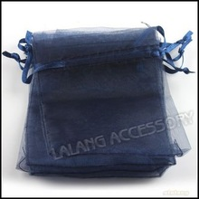 150 Lovely Blue Ink Pearl Organza Charm Beauty Bags Fit Gift/Wedding/jewelry/Candy 9*12cm 120358