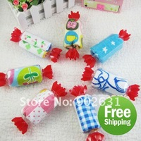 Free Shipping/Accept Credit Card 85pcs Many Colors Novelty sweet candy shape towel cake