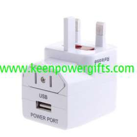 Universal World Travel AC Adapter with USB Power Port(China (Mainland))
