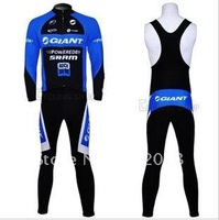 Free shipping retail and wholesale,2011 GIANT sling, strap  long-sleeved jersey, Cycling Wear