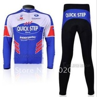 Free shipping retail and wholesale,2011 quick step long-sleeved jersey, Cycling Wear