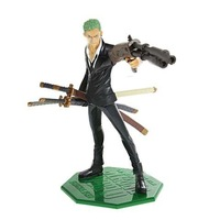 Manga One Piece Zoro Figure Model Toy Set with Weapon