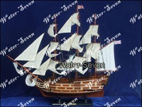 Model ship HMS VICTORY 82cm 32'' Historic Famous Ship Wood Free Shipping