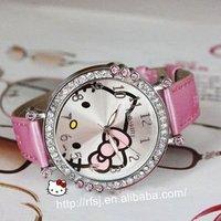 FREE SHIPPING hello kitty series !hotsale! hello kitty watch /gift/kids watch