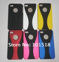 50pcs/lot Free shipping New Cup Bumper Hard Case Frame Skin 3in1 for iPhone 4 4G 4S