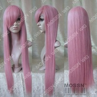 Brand new pink long straight Heat Resistant cosplay wig 80cm