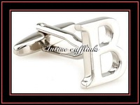 "intime fashion shipping free fashion ,high quality,sell cheap ""B""metal cufflinks(7492)"