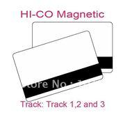 PVC Card ISO Standard CR80 2750 HiCo Magnetic Stripe ,1000pc/lot