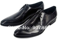 free shipping 2011 new! hot! brand newest men's first layer leather dress shoes wedding shoes party shoes europe size :38 to 44