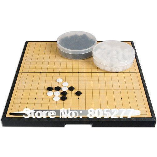 free ship the rare antique plastic magnetic table games old Chinese I-GO folding board table gobang chess set retail box gift(China (Mainland))