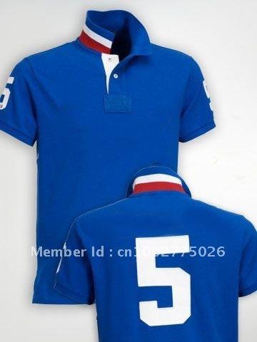 Em 2011, a última camisa pólo de roupas 100% algodão de manga curta azul profundo dos homens(China (Mainland))