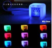 free shipping LED Colorful clock